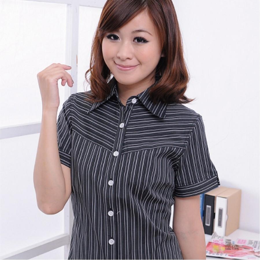 黑色條紋襯衫